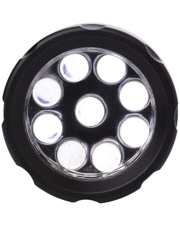 Aluminium zaklamp met 9 LEDS