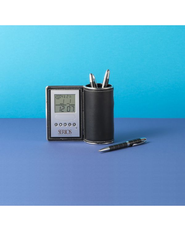 Bureauklok/pennenhouder