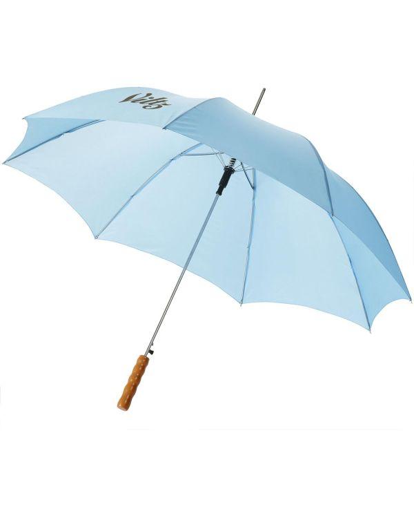 Lisa 23 Inch Automatische Paraplu Met Houten Handvat