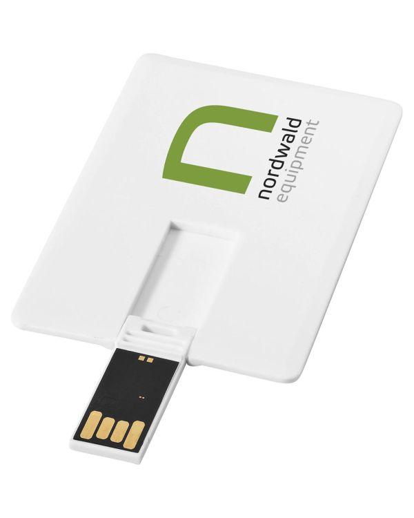 Slim Creditcard-Vormige Usb 2GB