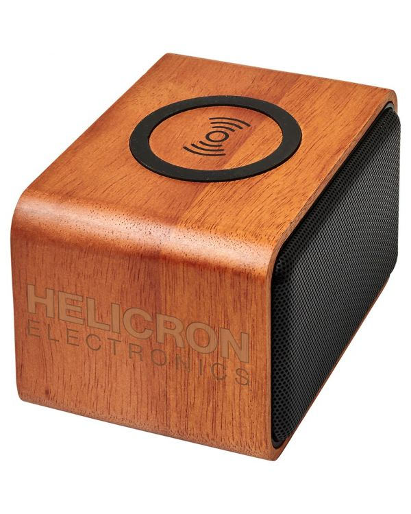 Houten Speaker Met Draadloos Oplaadstation