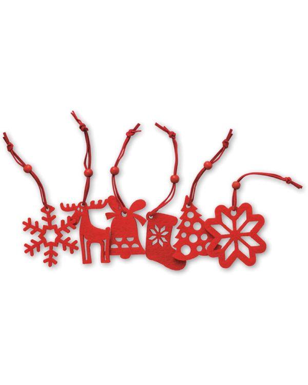 Rouge 6 Vilten Kersthangers