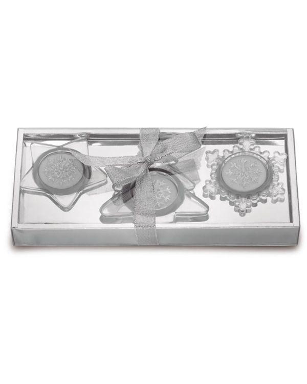Glassio Set Van 3 Glazen Kaarshouders