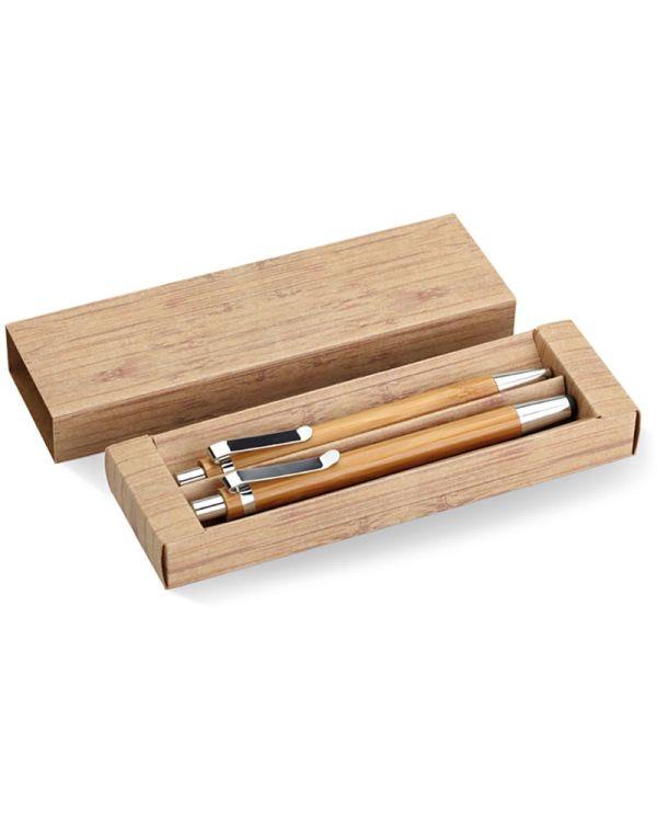 Bambooset Bamboe Pen En Potloodset