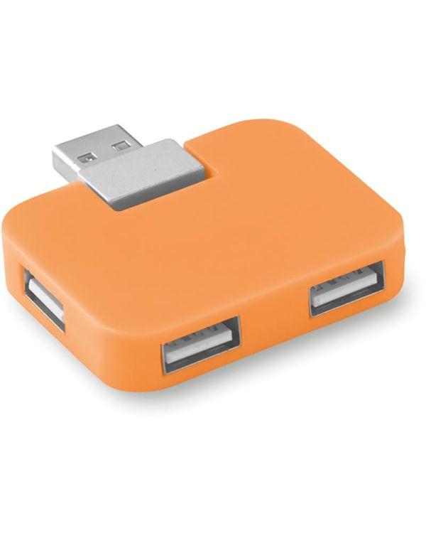 Square USB Hub, 4 Poorten