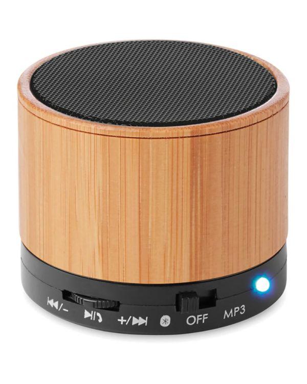 Round Bamboo Bluetooth Luidspreker