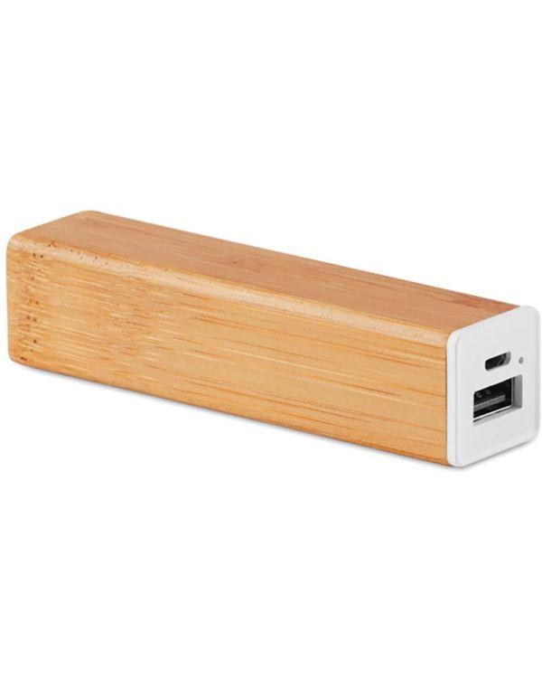 Powerbam 2200 mAh Bamboe Powerbank