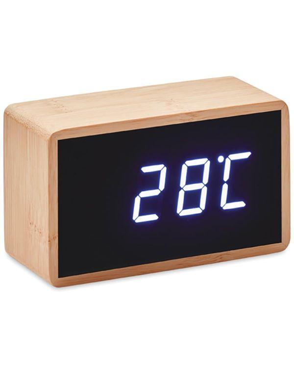 Miri Clock Bamboe Klok Met Led