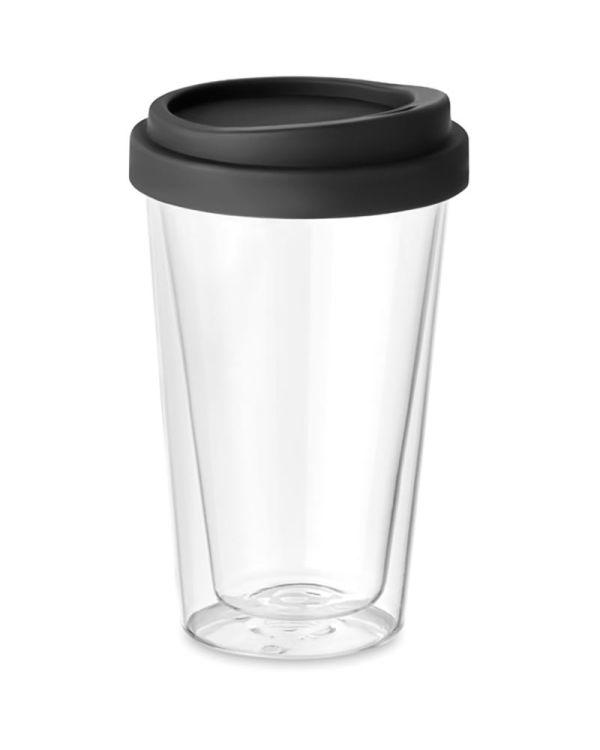 Bielo Tumbler Dubbelwandig Glas Met Deksel