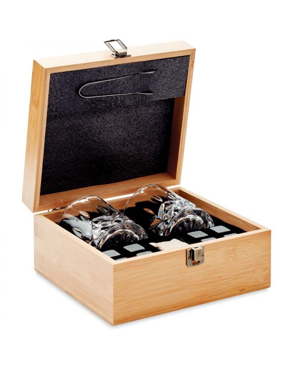 Inverness Luxe Whiskey Set In Bamboe Box