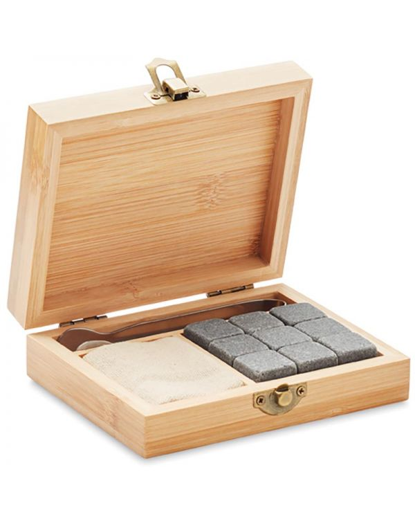 Dundalk Whiskey Set In Bamboe Box